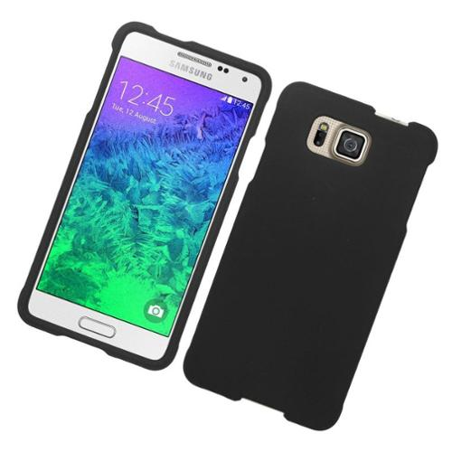 Insten Hard Cover Case For Samsung Galaxy Alpha - Black
