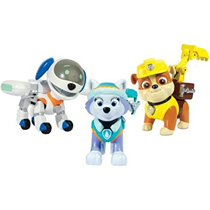 Action Pack Pups Figure Set, 3pk, Everest/Robodog/Rubble, Reenact rescue scenes with this Paw Patrol figure set Ship from
