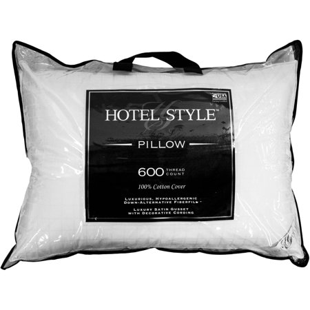 Image of Hotel Style Luxury Cotton Hypoallergenic Down Alternative Pillow, Multiple Sizes Available
