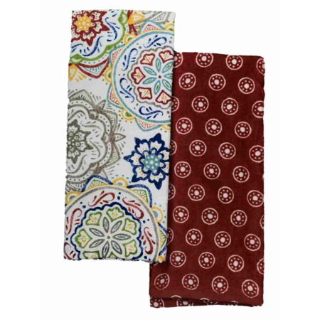 Food Network Colorful Medallion Kitchen Towel Set, 2 Boho Print Towels - Halloween Ideas Food Network