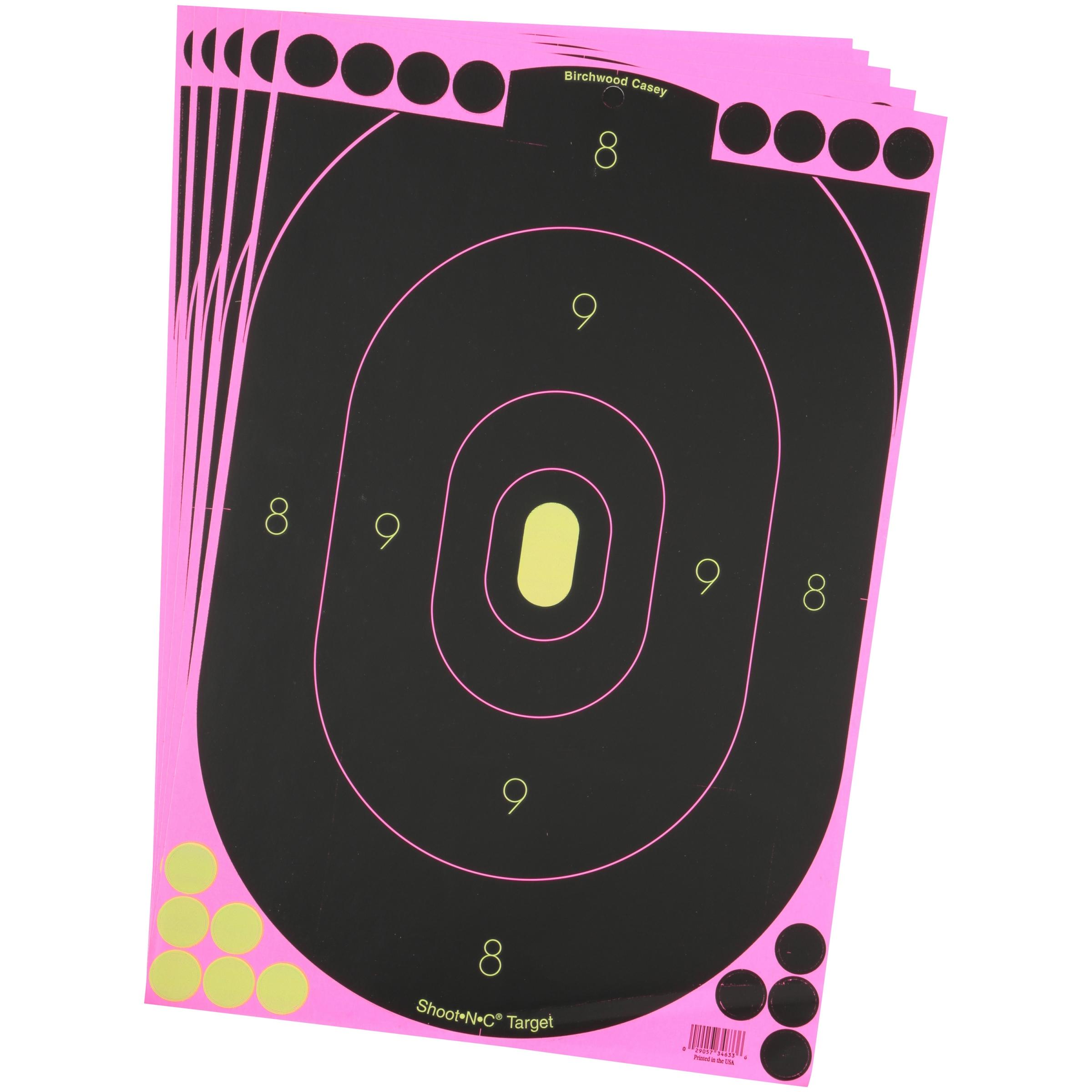 "Shoot•N•C® 12"" x 18"" Oval Pink Silhouette Target - 5 targets"