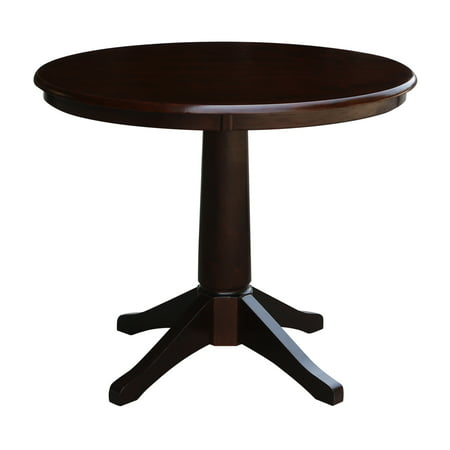 36 Round Pedestal Dining Table Mocha