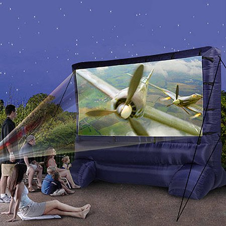 Airblown Deluxe Widescreen Outdoor Inflatable 12ft Diagonal Movie Screen for a Backyard Theater