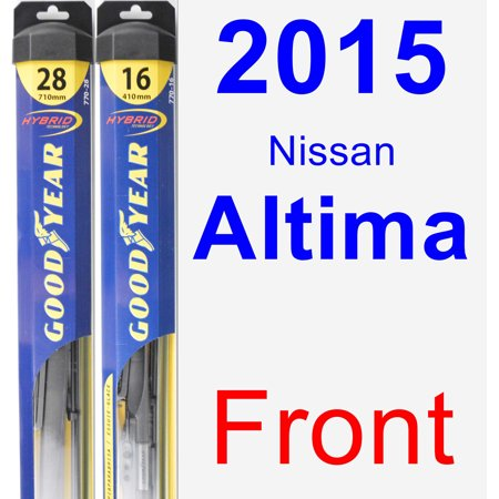 2015 Nissan Altima Wiper Blade Set/Kit (Front) (2 Blades) - Hybrid