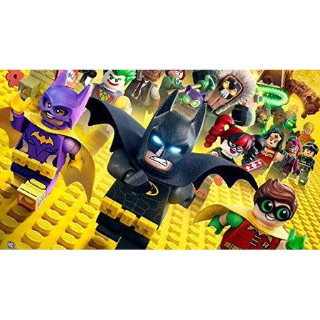 Lego Batman Movie Robin Batwoman The Joker Harley Quinn Edible Icing Image 1/4 sheet - Batman Icing