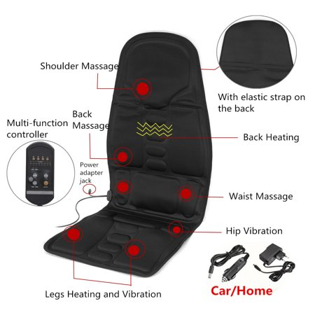 Mgt Body (8 Mode 3 Intensity Car Home Chair Electric Full Body Kneading Rolling Vibration Massage Heat Mat Seat Cushion Lumbar Pad Full Back Neck Pain Relief Electric Body Massager)