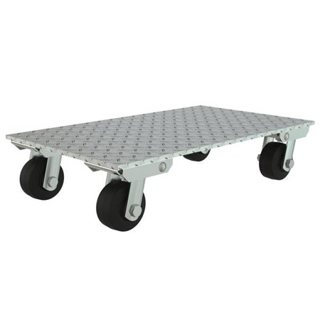 VESTIL PDA-1627-R-S Aluminum Plate Dolly With Steel Wheels
