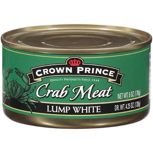 Crown Prince Crab Meat Lump White Seafood, 6 oz by Generic