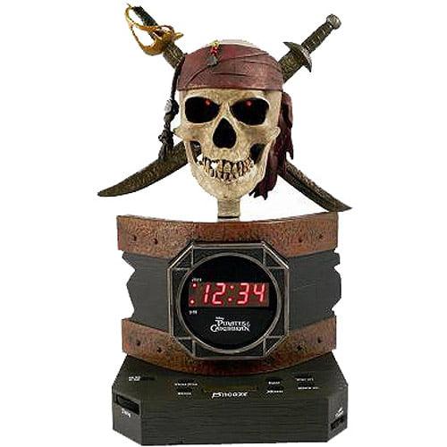 disney pirates of the caribbean alarm clock radio. Black Bedroom Furniture Sets. Home Design Ideas