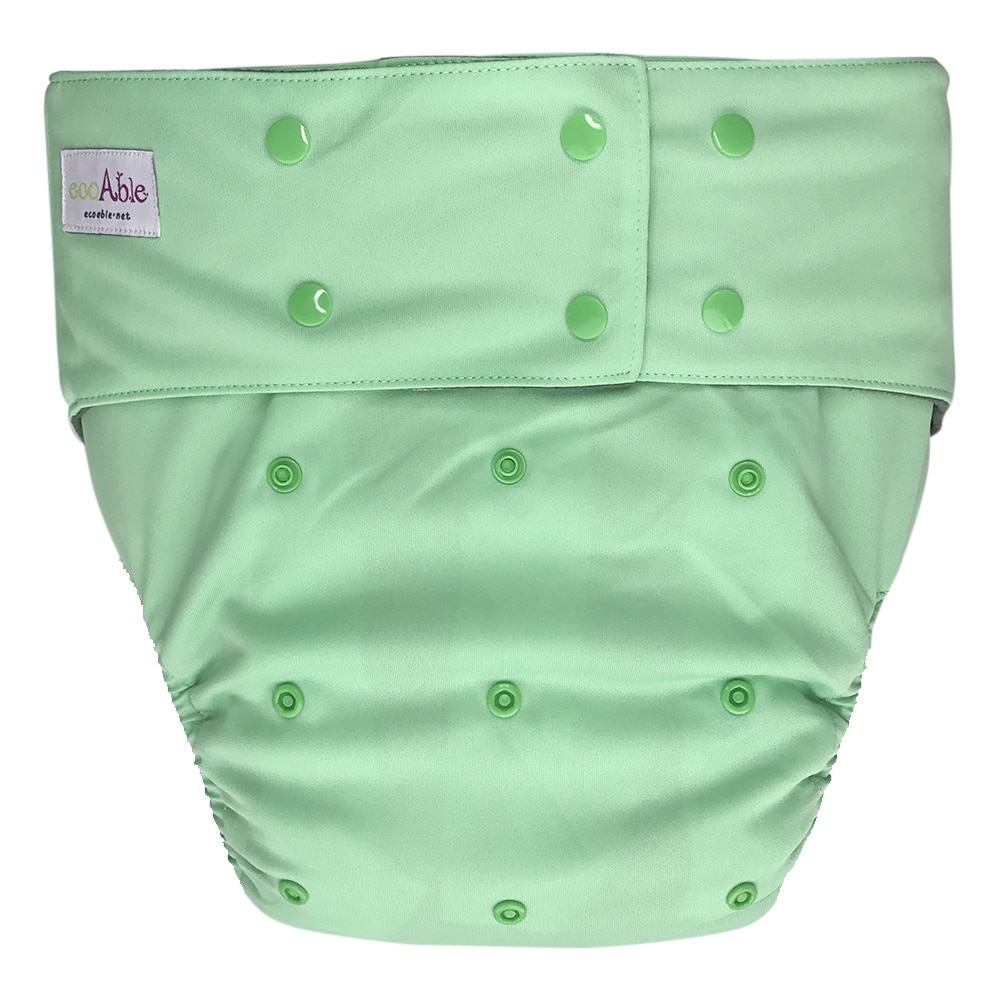 Reusable Teen / Adult Cloth Diapers for Incontinence Special Needs with Charcoal Bamboo Insert Pad (Waves)