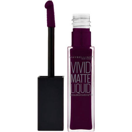 Maybelline Color Sensational Vivid Matte Liquid Lipstick, Possessed Plum Chantecaille Lip Matte Lipstick