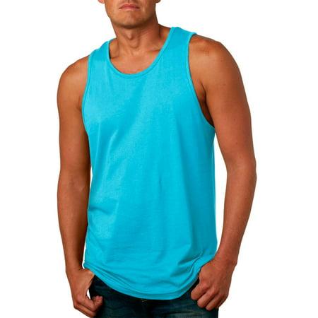 0c4ec9282110a Next Level Apparel - 3633 Men s Jersey Tank Top - Tahiti Blue - Medium -  Walmart.com