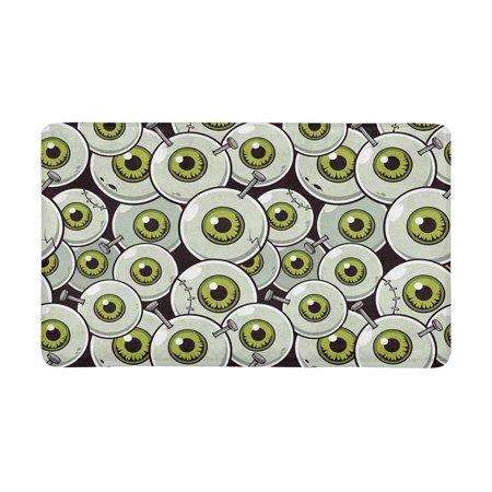 MKHERT Halloween Theme Eyeball Zombie Doormat Rug Home Decor Floor Mat Bath Mat 30x18 inch (Halloween Classroom Door Themes)