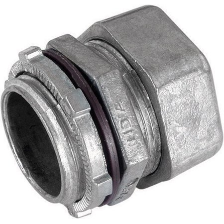 Sigma Electric ProConnex  1-1/4 in. Dia. Zinc-Plated Steel  Rain-Tight Compression Connector  For EMT (Emt Steel Compression Connector)