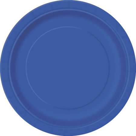 Team Spirit Foootball Super Bowl Party 9In Dinner Plates  Blue  12 Pack