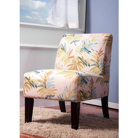 Merax print fabric armless contemporary accent chair for Contemporary fabric dining chairs
