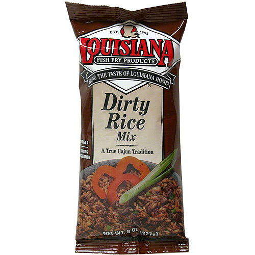Louisiana Fish Fry Products Dirty Rice Mix, 8 oz (Pack of 12)