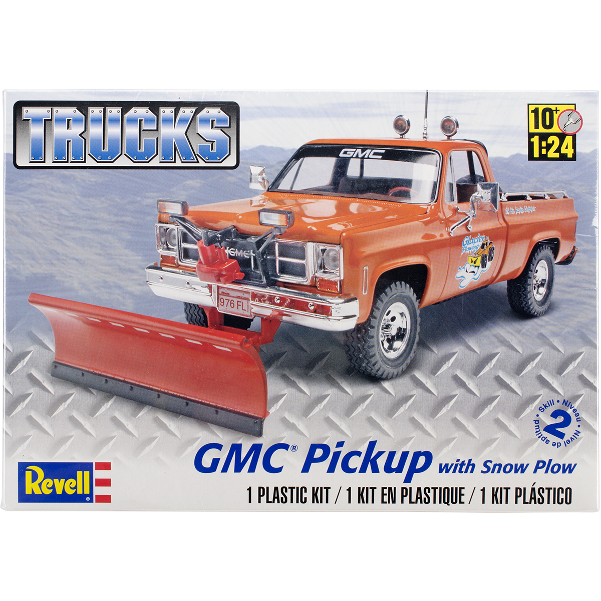 Plastic Model Kit GMC Pickup W/Snow Plow 1:24
