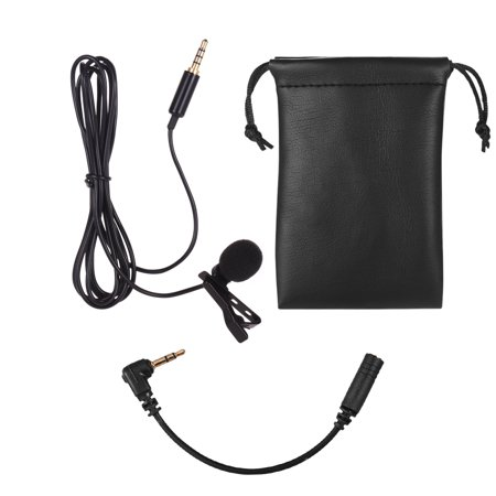 Lavalier Lapel Omnidirectional Clip-on Microphone Mic for X/8P Smartphone Tablet Laptop Cameras DSLR 3.5mm Audio Plug Long Length 1.5m / 4.9ft Devices for Video Recording Interview