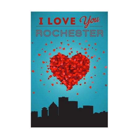 I Love You Rochester, New York Print Wall Art By Lantern Press