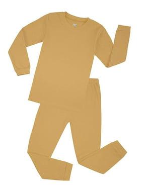 Elowel Boys Coral Solid 2 Piece Pajama Set 100% Cotton (Size 12 M -12 Years)