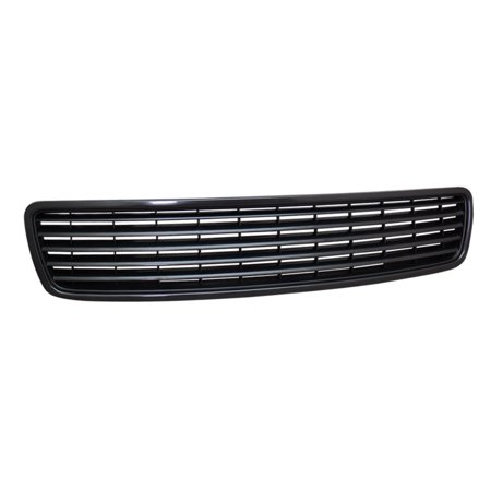 Bumper Precision Grilles Grills - RL Concepts BLACK HORIZONTAL FRONT HOOD BUMPER GRILL GRILLE COVER ABS 96-01/02 AUDI A4 S4 B5