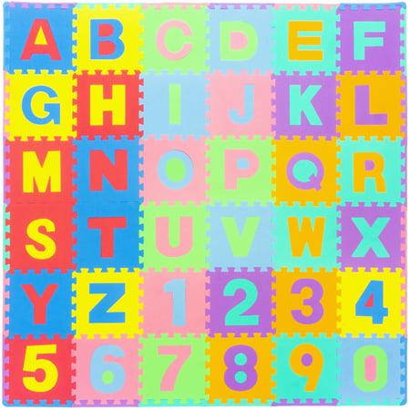 Prosource Kids Foam Puzzle Floor Play Mat With Alphabet