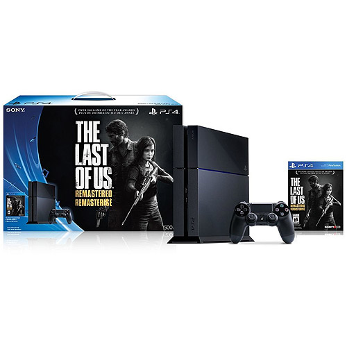 PS4 500GB Console Bundle with The Last of Us Remastered
