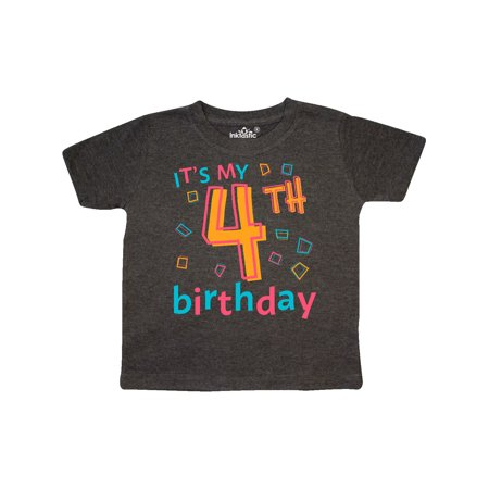 It's my Fourth Birthday Toddler T-Shirt (Today It's My Birthday)