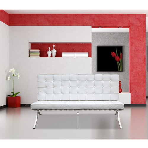 Fine Mod Imports Pavilion Leather Loveseat