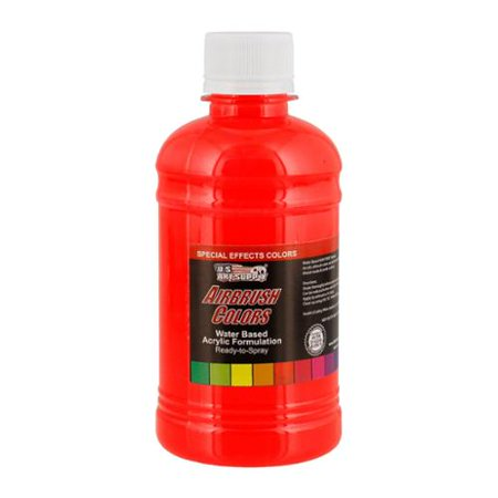 US Art Supply 8-Ounce Special Effects Neon Red Airbrush Paint