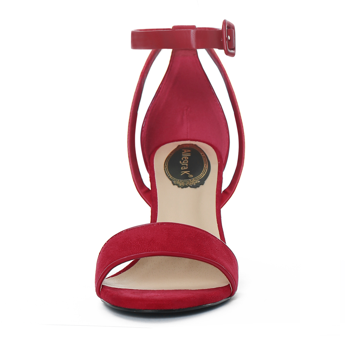 Womens sandals walmart - Unique Bargains Women S Pu Panel Chunky Heel Ankle Strap Piped Sandals Walmart Com