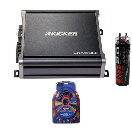 Kicker 43CXA6001 600 Watt RMS Monoblock Amp Mono Amplifier + Wiring +  Capacitor