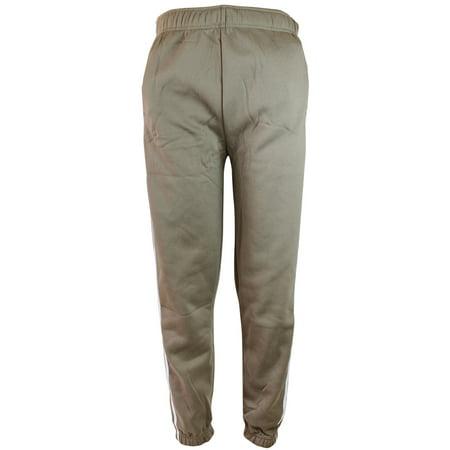 Khaki Mens Heavyweight Athletic Fleece Sweatpants with Elastic Waist & Cuffs
