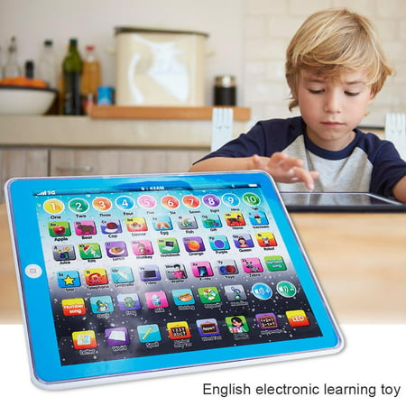 Kids Early Learning Toy,Ymiko Kids Children Tablet Pad Electronic Preschool English Learning Numbers Letters Teach Toy,English Learning Pad Toy