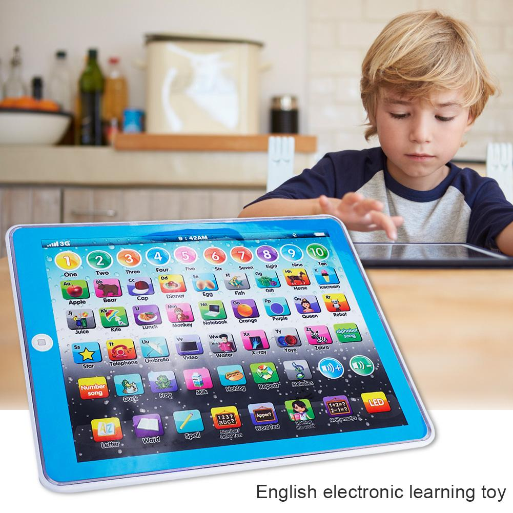 WALFRONT Kids Children Tablet Pad Electronic Preschool English Learning Numbers Letters Teach Toy,Tablet Pad Toy, English Learning Pad Toy