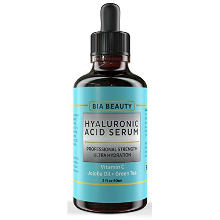 Bia Beauty 2 Oz Hyaluronic Acid Serum w/ Vitamin C  E Jojoba Oil Green