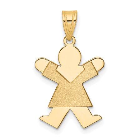 14K Yellow Gold Girl Charm - image 1 of 2