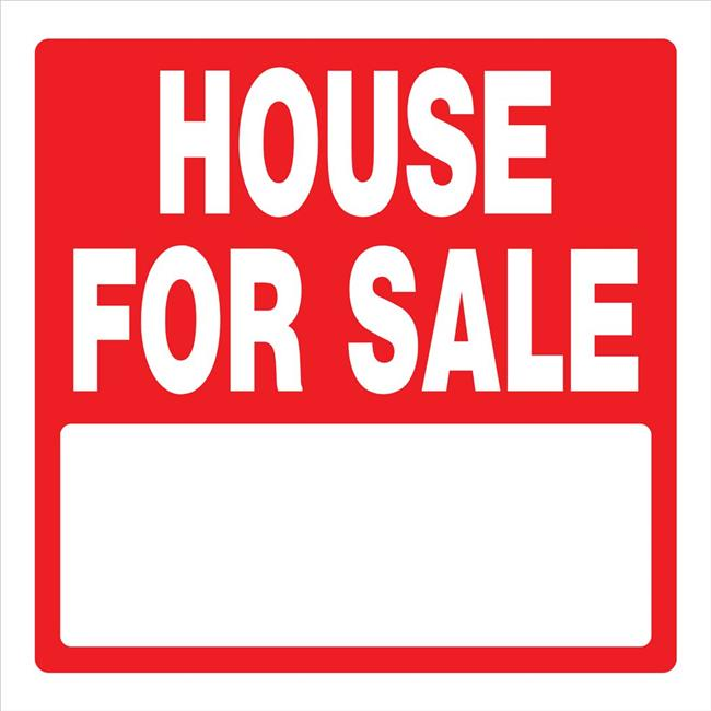 Hillman Group 843383 16.75 x 16.75 in. Red & White Plastic House for Sale Sign - 5 Piece - image 1 de 1
