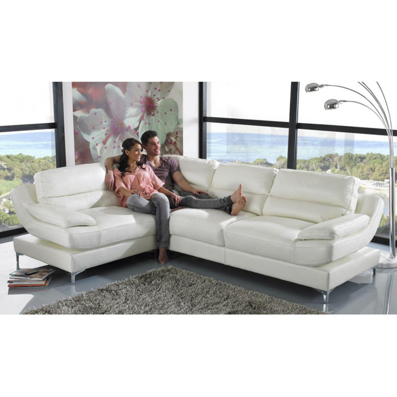 Terrific Divani Casa Clio Modern Eco Leather Sectional Sofa Walmart Com Ncnpc Chair Design For Home Ncnpcorg