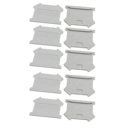 Din Rail Cutter (10Pcs D-UK3/16B DIN Rail Terminal Block End Plate Covers Protectors Barriers )