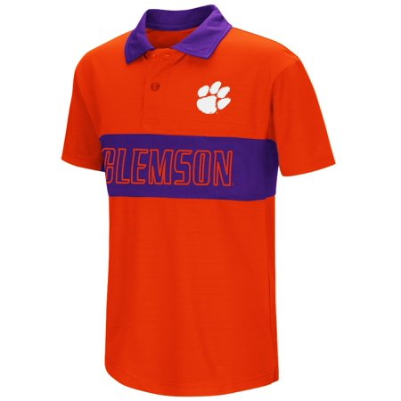 Clemson tigers kamisco for Youth performance polo shirts