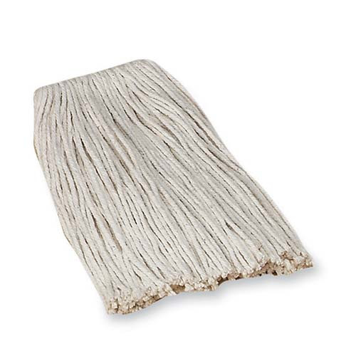 Genuine Joe Economy Cotton Mop Refills, 4-Ply, Good Absorption, White