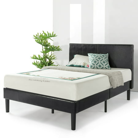 Best Price Mattress Agra Grand Upholstered Faux Leather Platform Beds