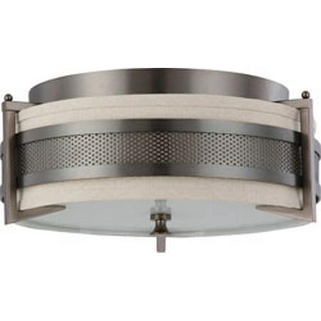 Replacement for 60/4436 DIESEL 3 LIGHT MEDIUM FLUSH WITH KHAKI FABRIC SHADE HAZEL BRONZE CONTEMPORARY replacement light bulb (Shades Diesel)