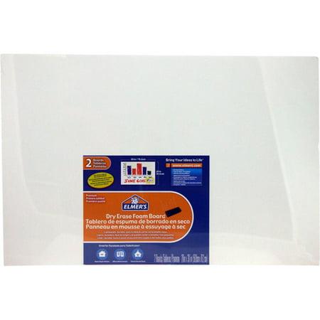 Elmer's Dry Erase Foam Board, White, - Foam Presentation Boards