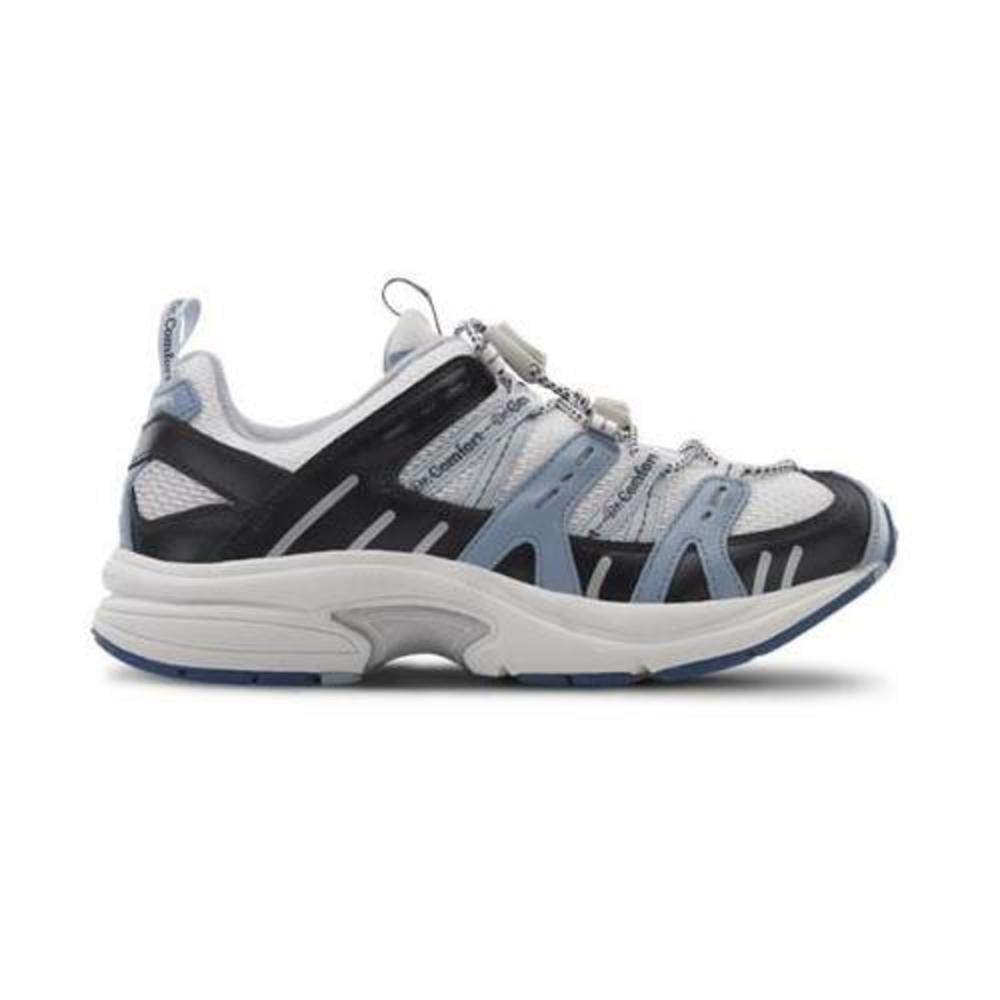 Dr. Comfort Refresh-X Women's Therapeutic Double Depth Shoe: White/Blue 10.5 Wide (W/2E) Lace