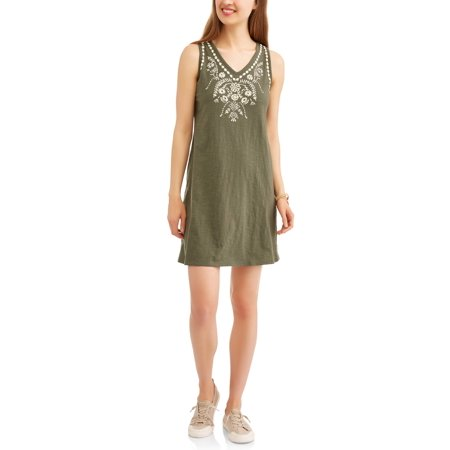 Chain Print Dress - Women's A-line Printed Tank Dress