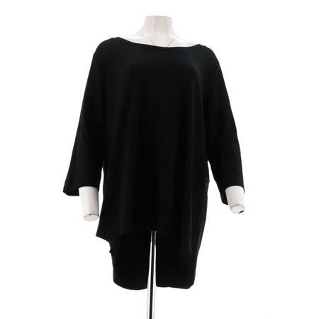 Isaac Mizrahi Essentials Pima Cotton 3/4 Slv Top A300290