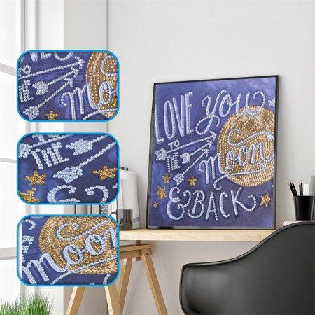 DIY 5D Diamond Painting Kits DIY  Drill Diamond Painting Needlework Crystal Painting Rhinestone Cross Stitch Mosaic Paintings Arts Craft for Home Wall Decor Gift - Halloween Needlework Kits